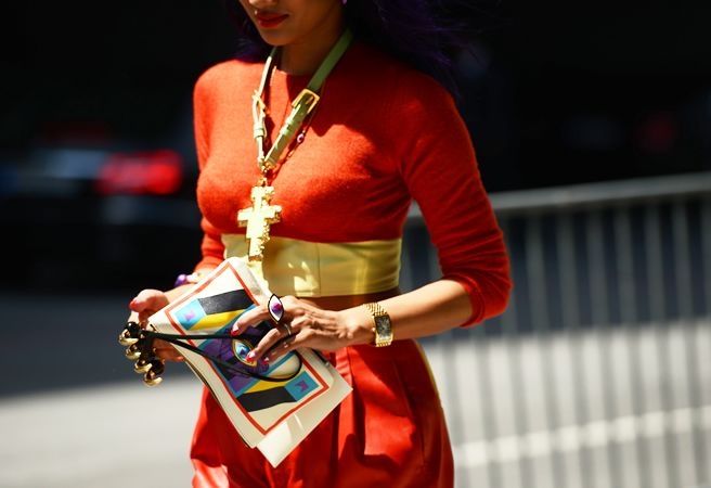 Street-Style Photographer Tommy Ton Shoots the Menswear Scene: Street Fashion, Statement Necklaces, Street Style, Knuckle Rings, Paris Fashion Weeks, Ny Fashion, Belts Necklaces, Accessories, Evil Eye