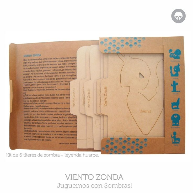 Kit para jugar con sombras basado en Leyenda del Viento Zonda, Oh! Pacha Juguetes #shadow #puppets #titeres #sombras #leyendas #ecotoys #juegos