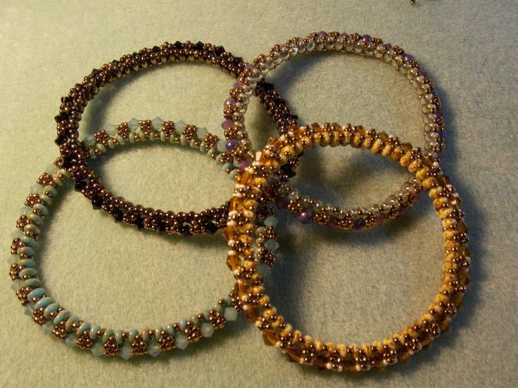 Festival of Lights, stackable bangles - Jewelry creation by Terrie