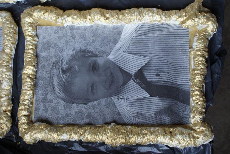 kader uit PU schuim ging mee naar huis als geschenk voor oma en opa voor grootouderdag