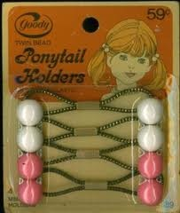 ponytail holders... these were hard for me to put in! haha.