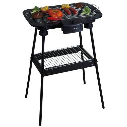 Barbecue électrique sur pied - Acier et fer - 47 x 35 x H 71 cm - Noir