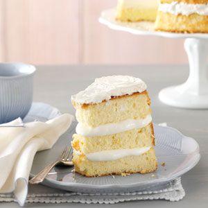 Orange Cream Chiffon Cake Recipe from Taste of Home - uses 10 eggs