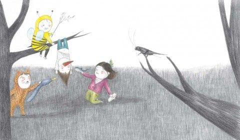 """Cuando os hagáis pequeños"", ilustración de Aitziber Akerreta (Kalandraka, 2013)."