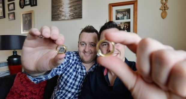 Ringing the changes: Barry Gardiner and Anthony Kinahan who are getting married  in Drogheda. Photograph: Alan Betson/The Irish Times