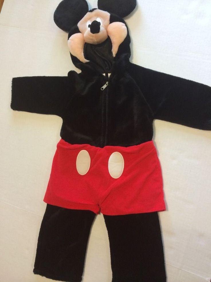 Disney Store Mickey Mouse Plush Toddler Costume Halloween EUC Size 12-18M #Disney