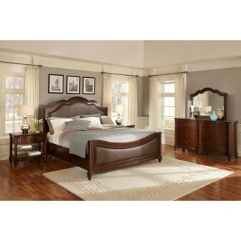 Costco Wellington 5 Piece Queen Leather Bedroom Set Costco Pinterest King Leather And