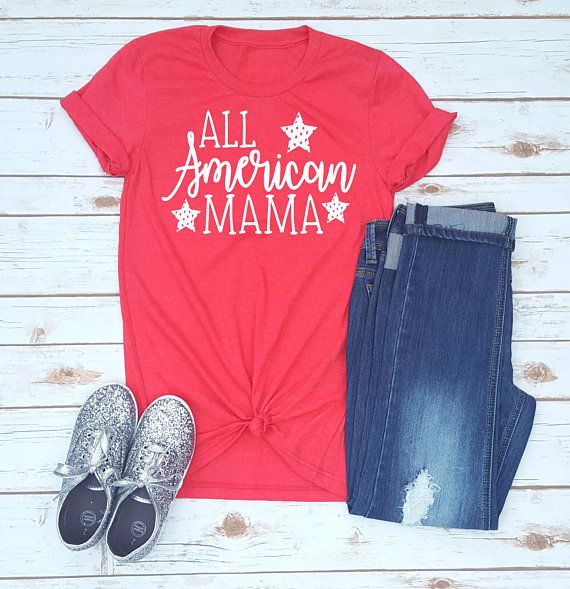 All American Mama Shirt // Fourth Of July Shirt // 4th Of July // Women's 4th of July Shirt // Mom 4th Of July Shirt // Mom Life Shirt