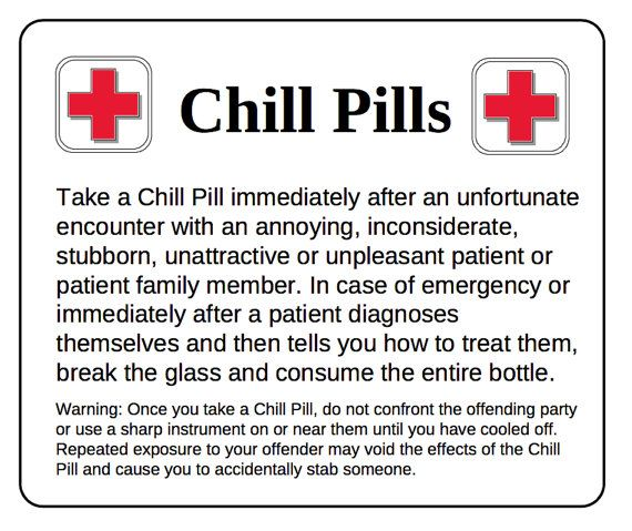 Chill Pill DOCTOR Glass Apothecary Jar Funny Gag by scripturegifts