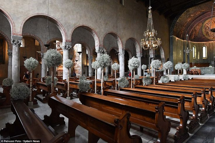 The couple said their vows in the Cathedral of San Giusto in front of 250 of their closest friends and family