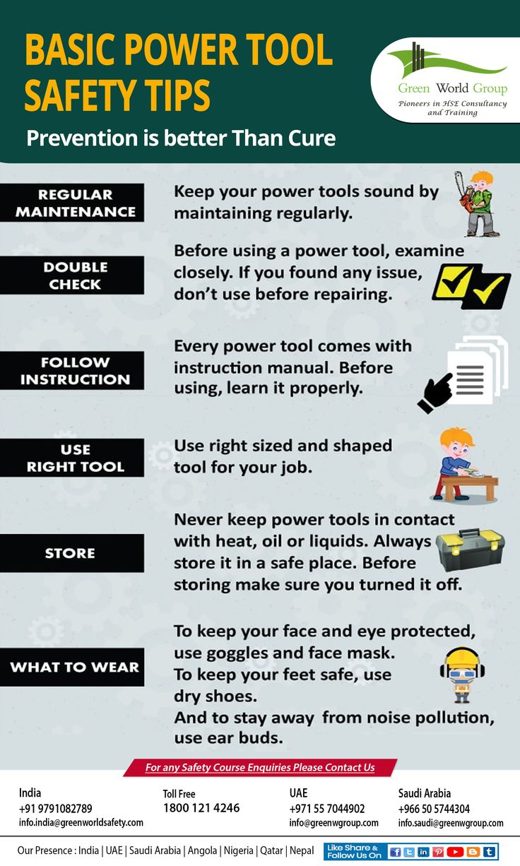 Power Tools Safety Power tool safety, Health and safety
