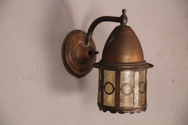 Circa 1910 Brass Exterior Wall Mounted Light Antique Outdoor Lighting Antique And Spanish Revival Lighting Antique Outdoor Lighting Wall Mounted Light Light