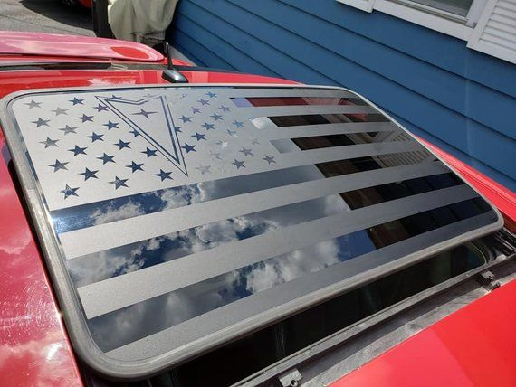 Distressed American Flag Sunroof Decal Chevy SS