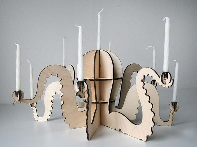 Menoctopus! The octopus menorah / candle holder | Flickr - Photo Sharing!