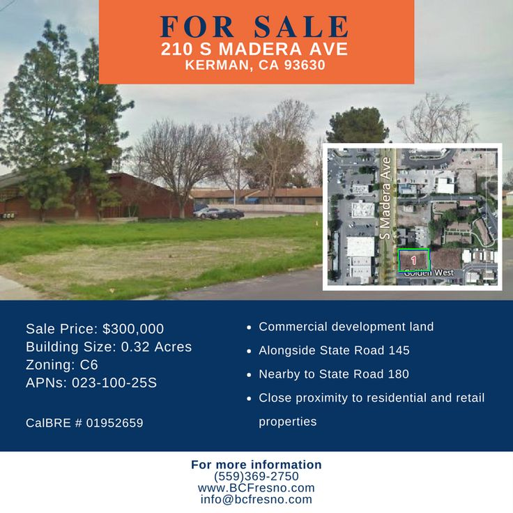 Kerman commercial development land for sale! Property is nearby residential area and multiple retailers.   #boesecommercial #commercialrealestate #fresnoca #fresno #kerman #california #fresnocommercialrealestate #fresnorealestate #sale #commercialproperty #realestate #land
