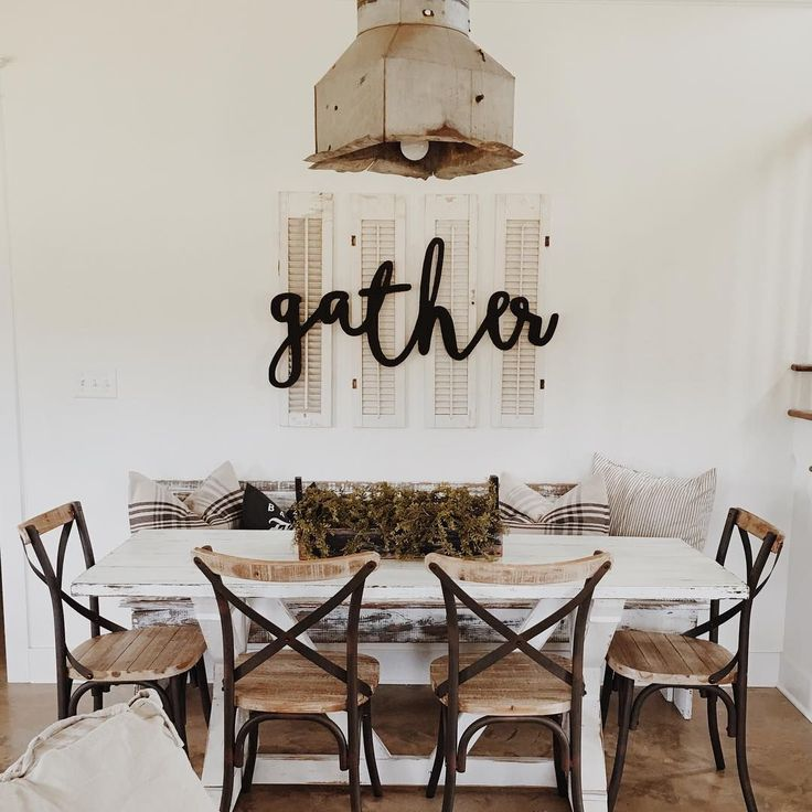 Fall dining room neutral colors painted distressed