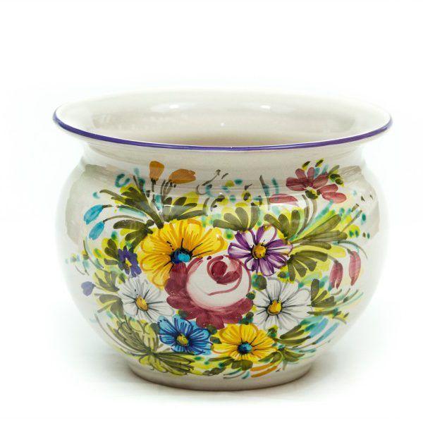 Cachet-pot portavaso in ceramica italiana Fioraccio - Liberati