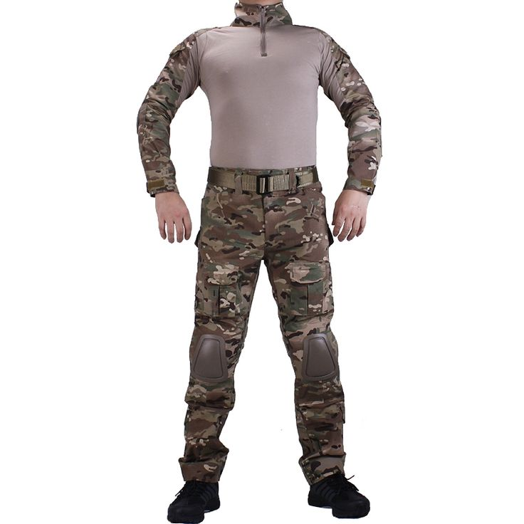 56.38$  Watch here - http://alizjo.worldwells.pw/go.php?t=32741505208 - Camouflage BDU Multicam Combat uniforms shirt with broek and elbow & knee pads militaire game cosplay uniform ghilliekostuum 56.38$