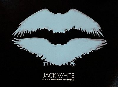 Tour poster from Jack White III live at Track 29 in Chattanooga, TN. Live set from March 10, 2012.