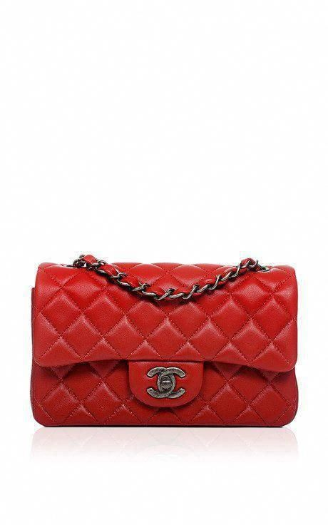 ffcae75c51bb Chanel Red Quilted Lambskin Small Classic 2.55 Shoulder Flap Bag by Madison  Avenue Couture for Preorder on Moda Operandi #Chanelhandbags  #Burberryhandbags