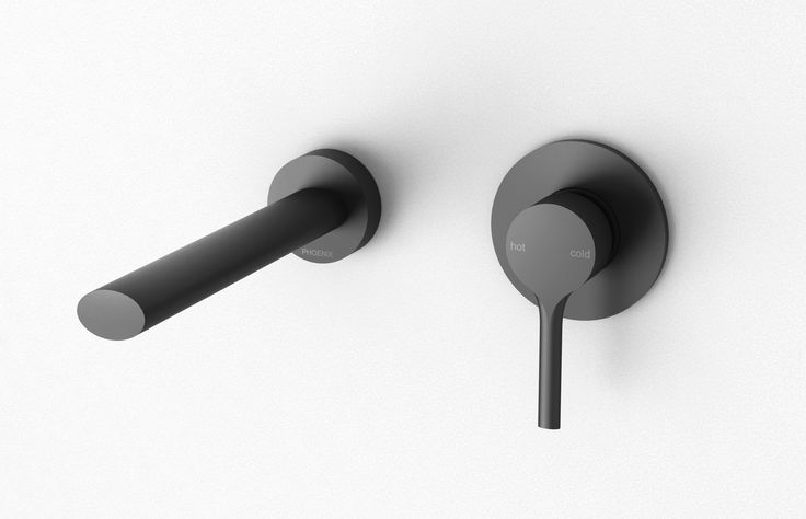 Phoenix Tapware - Vivid Slimline Oval Wall Mixer and Outlet in matte black