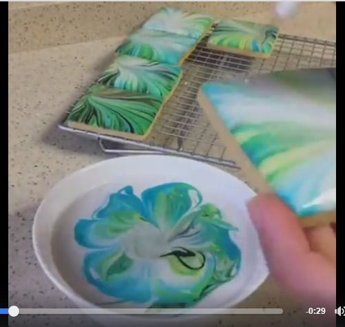 How to marble cookies