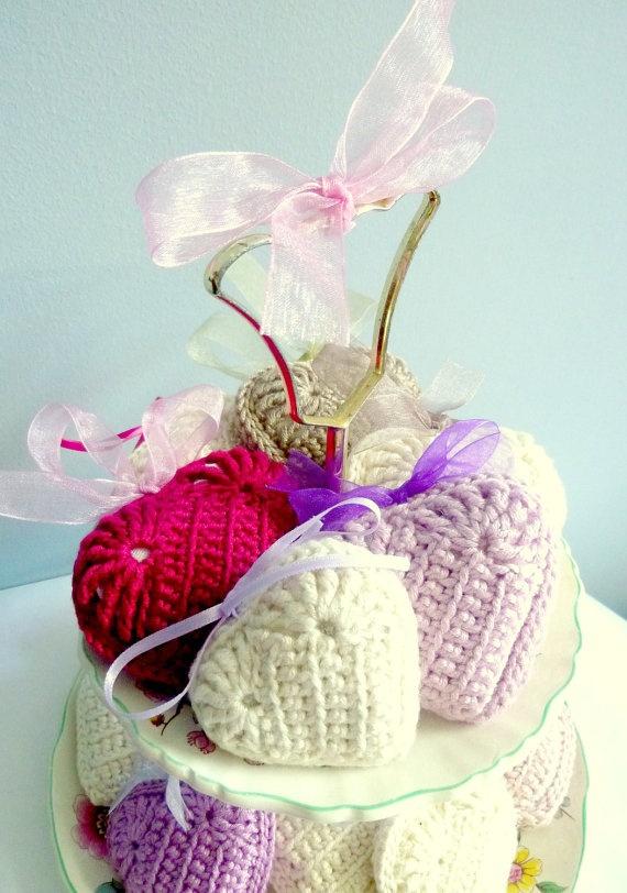 Wedding Favors 100 Lavender Crochet Hearts by graceandfavourshop, €650.00