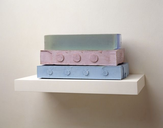 Rachel Whiteread, '139' (2008). Plaster, pigment, resin, wood and metal