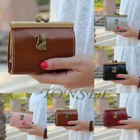 Womens Retro Leather Clutch Hasp Key Change Wallet Card Holder Purse Handbag