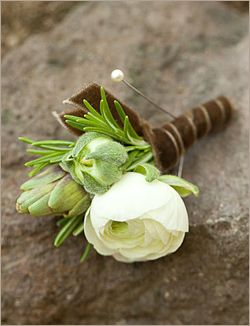 boutonniere with rosemary