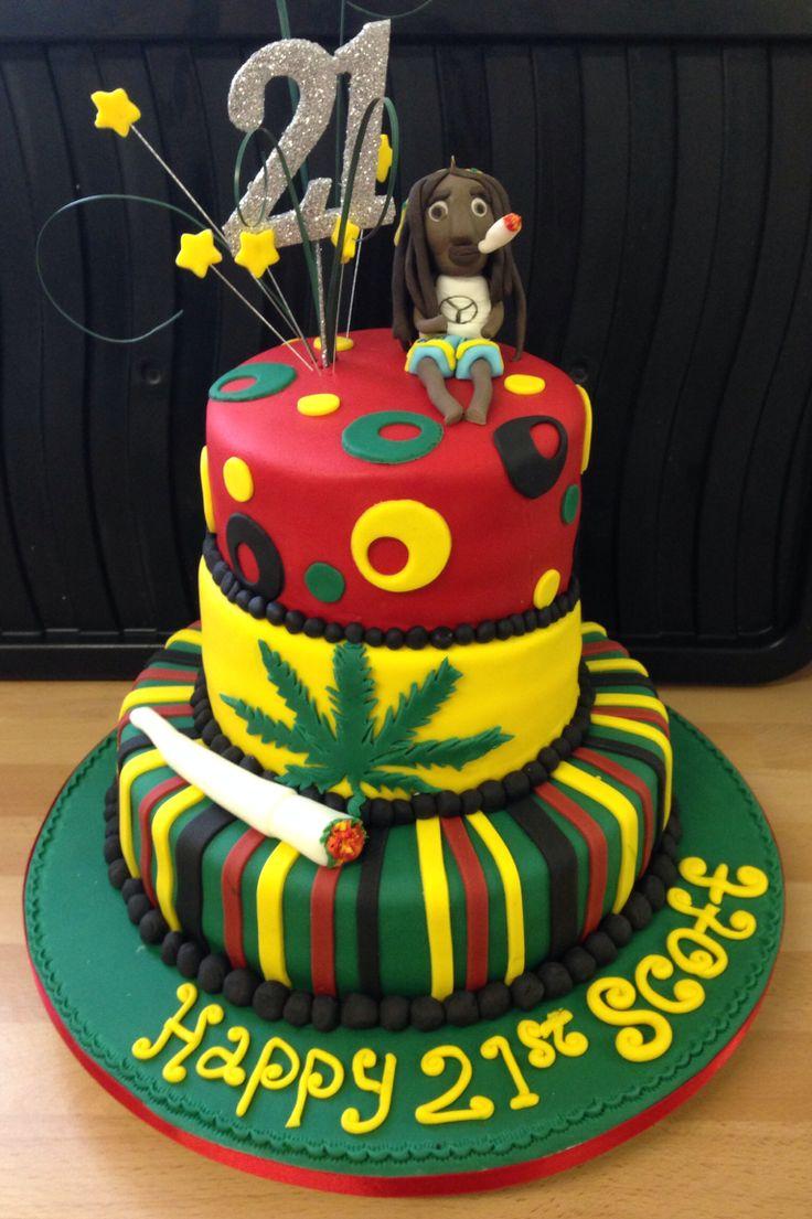 Jamaican Bob Marley 3 tier cake