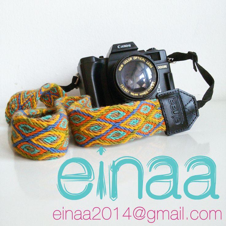accesorios para cámaras tejidos wayuu artesanía colombiana correas para cámaras fotográficas