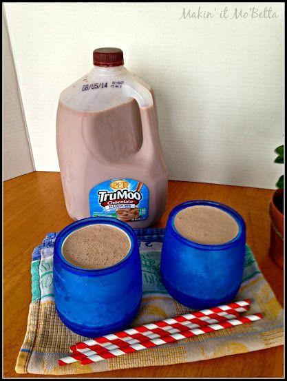 Makin' it Mo' Betta: Homemade Chocolate Frosty - no ice cream maker! {#TruMoo #ad}