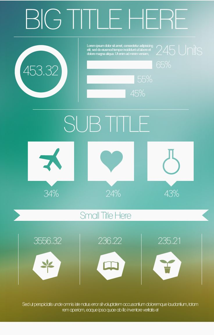 free minimalist  infographic template from  piktochart