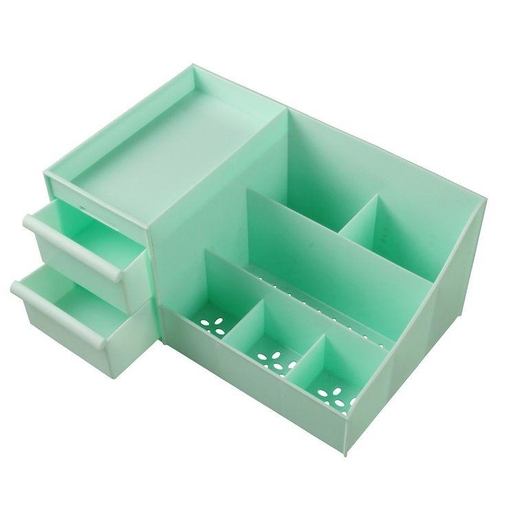 Green Waterproof Makeup Box Drawer type Women Cosmetic Case Box Big Makeup Tools Make-up Pen Brush Desktop Storage Box  #lovely #jewelry #darrens1960 #fantastic #lol #like #amazing #great
