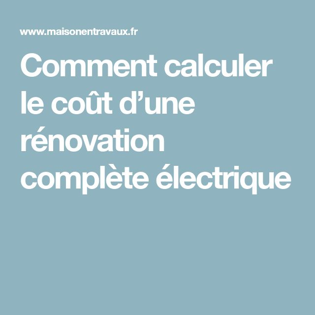8 best Mes documents images on Pinterest Books, Exercises and Building - Refaire Electricite Maison Cout