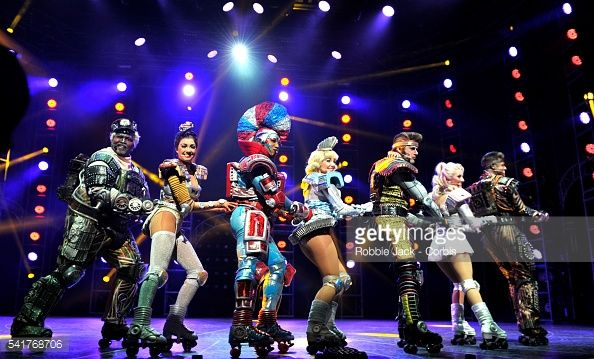 Artists of the company in Andrew Lloyd Webber's Starlight Express directed by Arlene Phillips at the New Wimbledon Theatre in London.