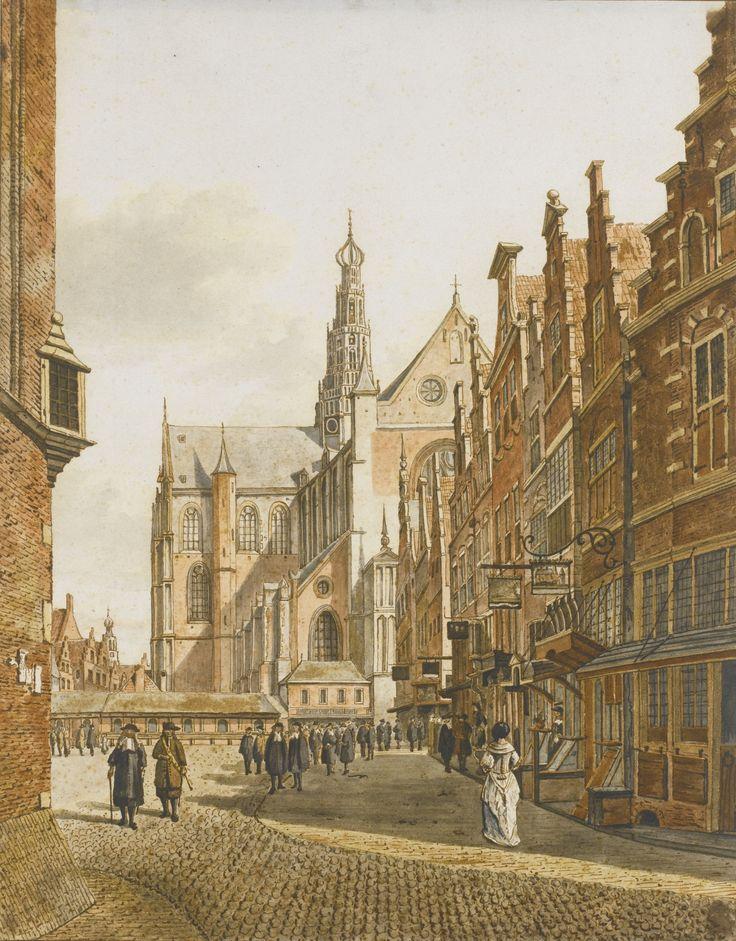 GERRIT HULSEBOOM AMSTERDAM 1784 - 1863 VAASSEN VIEW OF THE GROTE KERK, HAARLEM, AFTER BERCKHEYDE