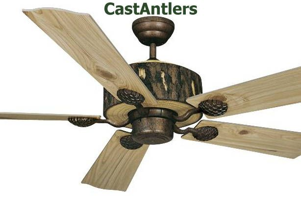 Rustic Ceiling Fans | Rustic Ceiling Fans U0026 Lighting From CastAntlers