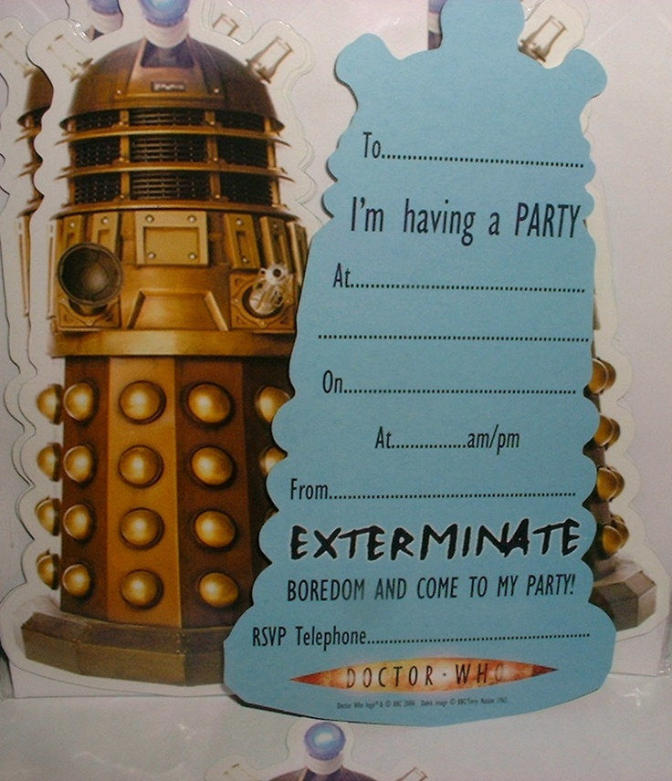 884 best images about Aint No Party Like A Time Lord Party on – Clever Party Invitations