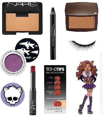 Clawdeen Wolf (Monster High) inspired make up