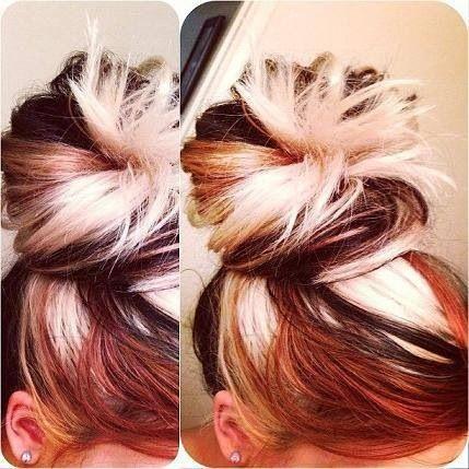 Multiple hair colors..brown black blonde
