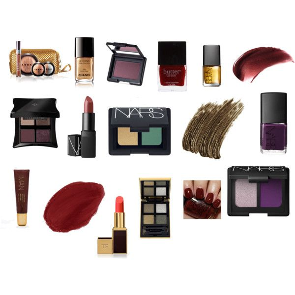 Deep/Dark Autumn Makeup #2 by angstgirl on Polyvore featuring beauty, NARS Cosmetics, Yves Saint Laurent, Illamasqua, Tom Ford, Iman, LORAC, Butter London, Chanel and OPI