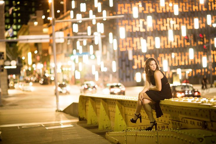 The final look - inspired by the Glamour and Grunge pin board!  City lights and a little black dress :-) Photos by Gabrielle Halle Photography