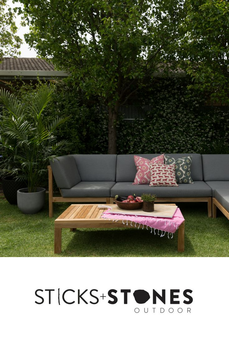 Our Modular – Armless is perfect for any indoor/outdoor landscape. At Sticks + Stones Outdoor, we travel the globe to source the most stunning, affordable, practical and stylish items to help you create your own beautiful outdoor space. #outdoorfurniture #teak #homestyling #furniture