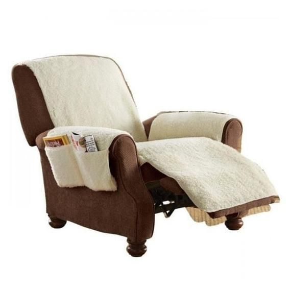 Soft And Breathable Recliner Cover With Pockets Recliner Cover Cushions On Sofa Furniture Covers