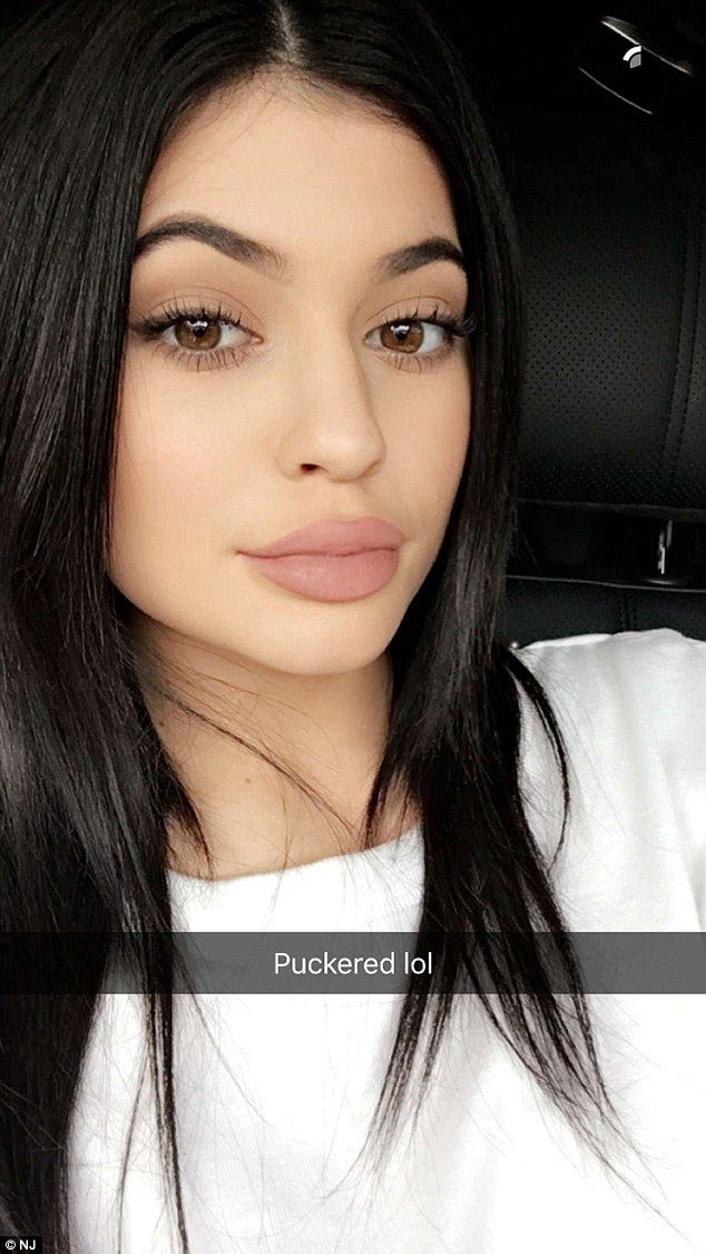 Voila! Kylie Jenner demonstrated the various ways she angled her lips to make them look more plump on Snapchat on Tuesday