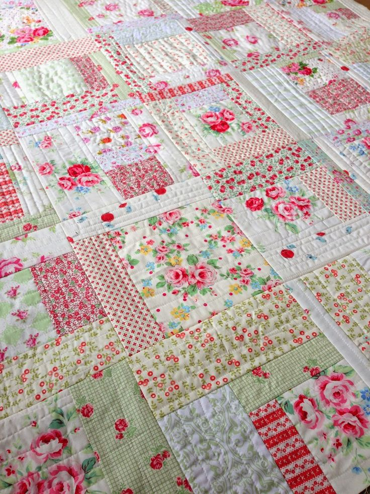Quilt as you go & squares and rectangle quilt that looks interesting