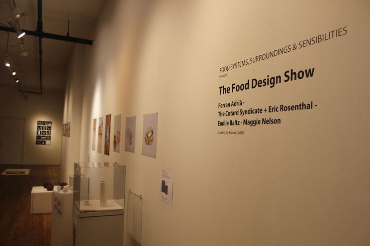 The Food Design Show 9 January 2015 – 31 January 2015, The Bronx River Art Center (BRAC)