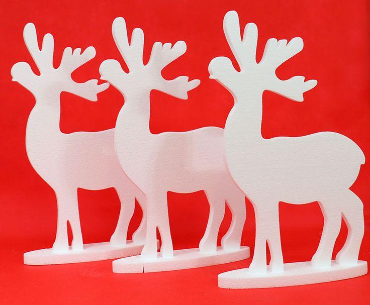 Łoś świąteczny, duży  49 cm zestaw 3 szt.